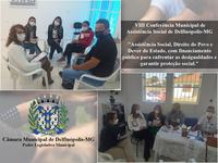 Vereadora Jaqueline e Vereador Sebastião Alão participam da Vlll Conferência Municipal de Assistência Social de Delfinópolis-MG